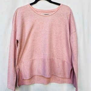 Abercrombie & Fitch Pink Striped Long Sleeve Top